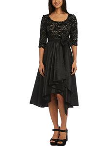 R & M Richards Black Evening & Formal A-line Dresses