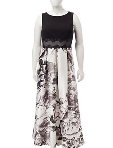 Sangria Black Cocktail & Party Evening & Formal A-line Dresses