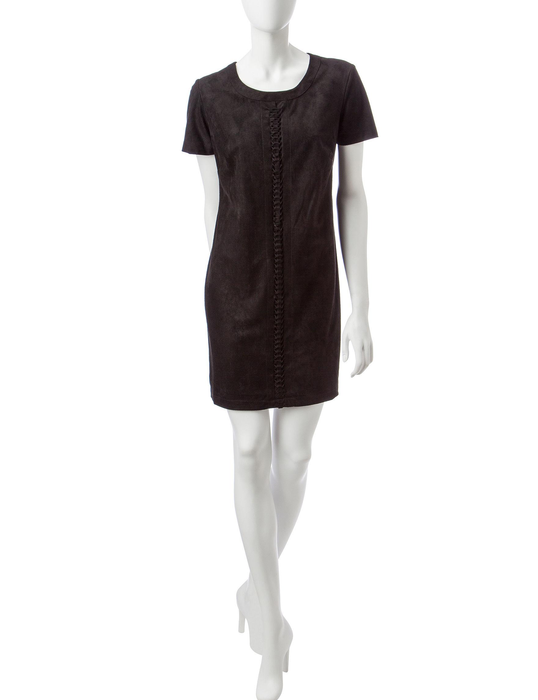 Sangria Black Everyday & Casual Shift Dresses