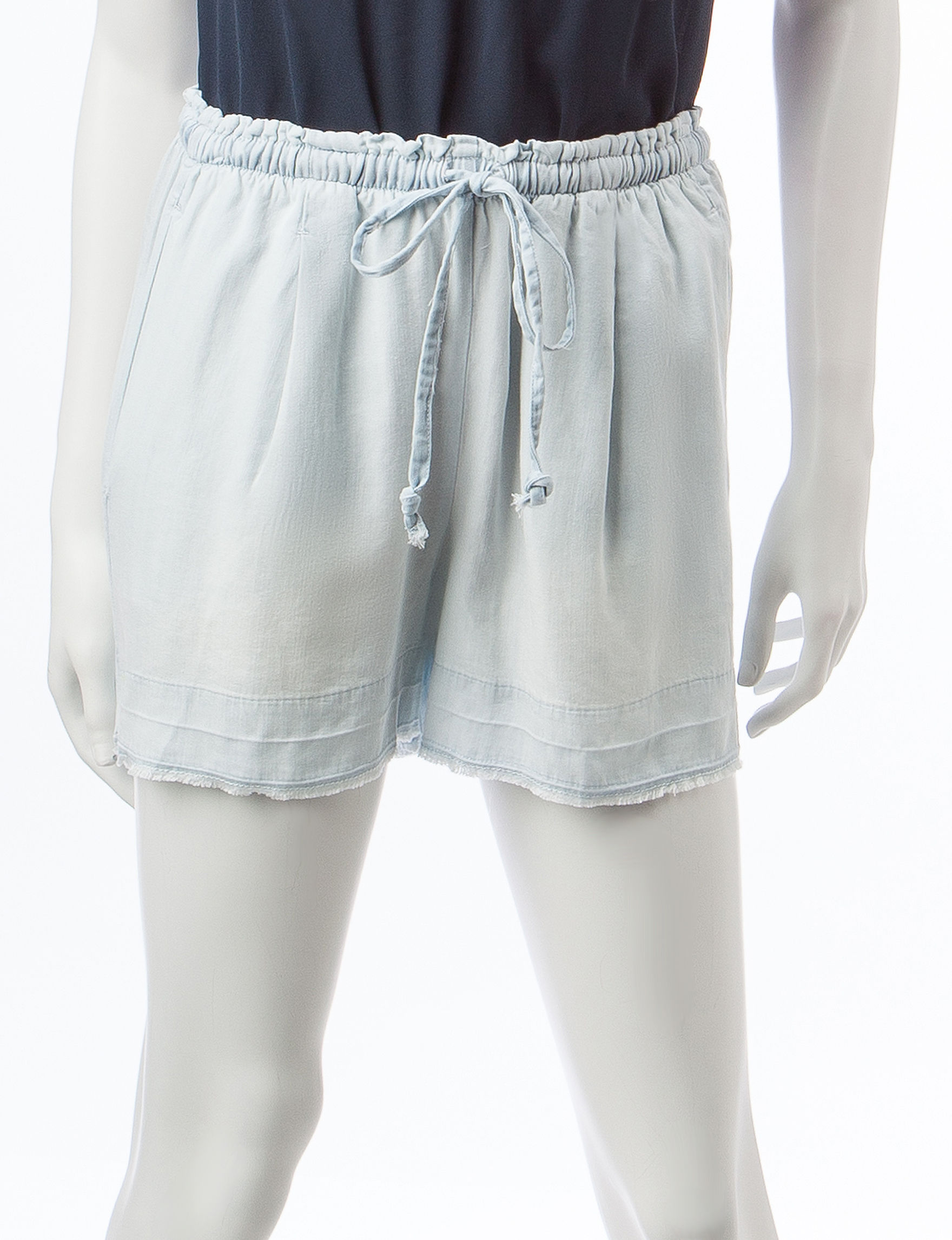 C and J Collection Blue Soft Shorts