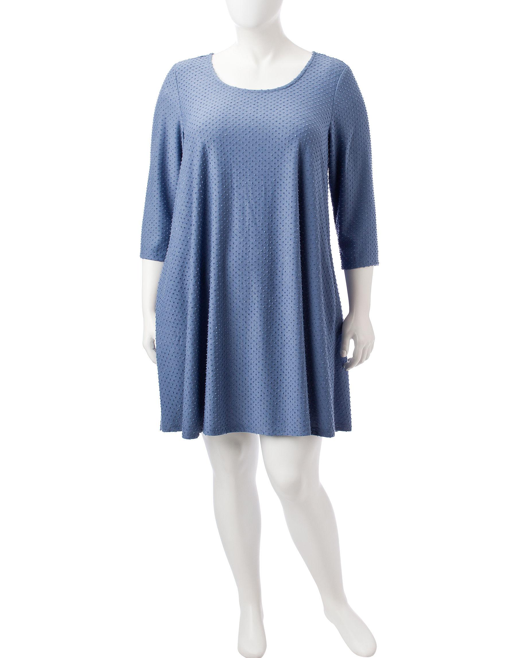 Lennie Blue Everyday & Casual Shift Dresses