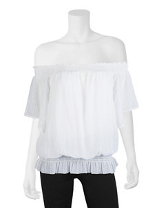 A. Byer Off White Shirts & Blouses