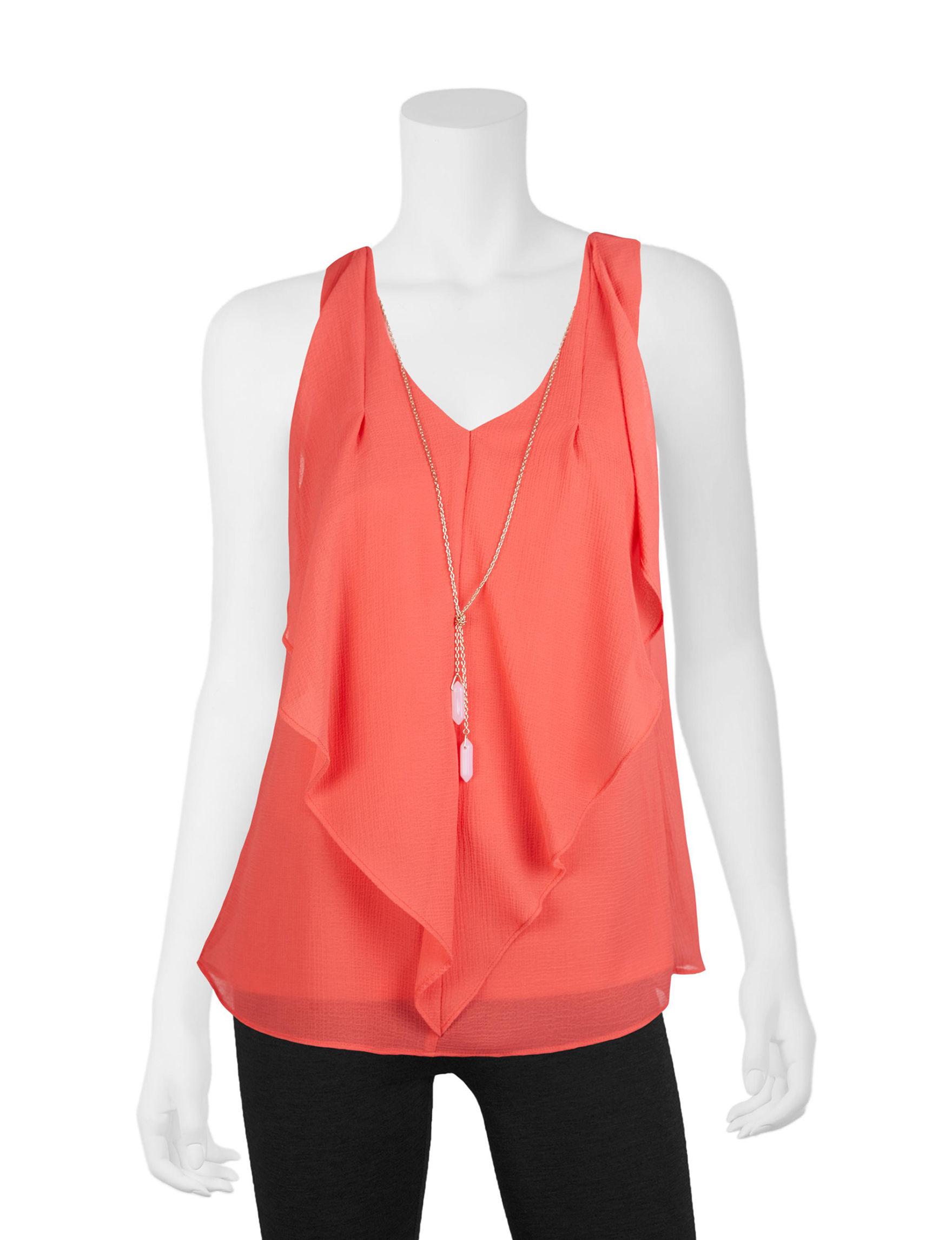 A. Byer Orange Shirts & Blouses