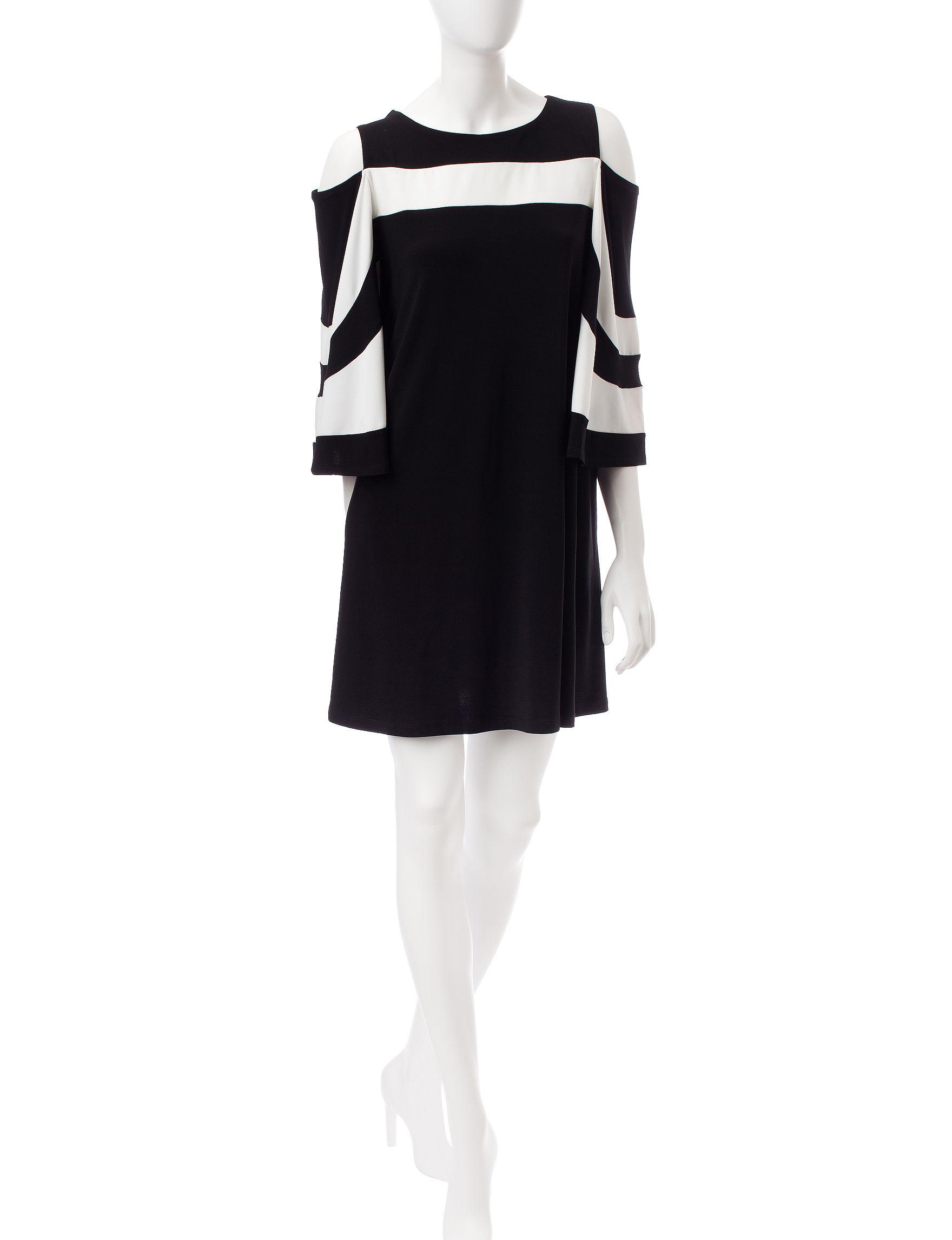 Lennie Black / Ivory Everyday & Casual Shift Dresses