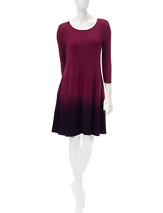 Lennie Burgandy Everyday & Casual Shift Dresses