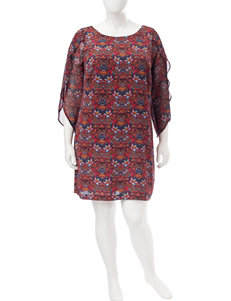 Sangria Multi Everyday & Casual Shirt Dresses