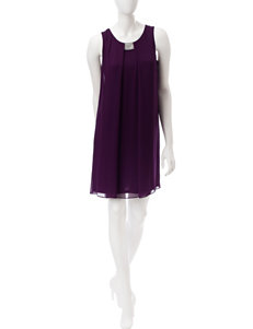 MSK Purple Cocktail & Party Evening & Formal Shift Dresses