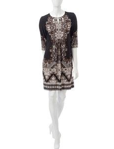Sandra Darren Khaki Everyday & Casual Shift Dresses