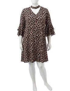 JM Studio Cheetah Everyday & Casual Shift Dresses