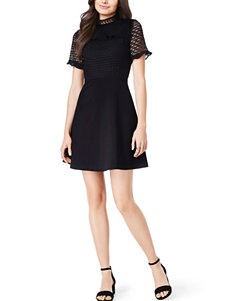 XOXO Black Everyday & Casual Fit & Flare Dresses