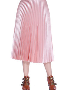 C and J Collection Pleated Midi Skirt