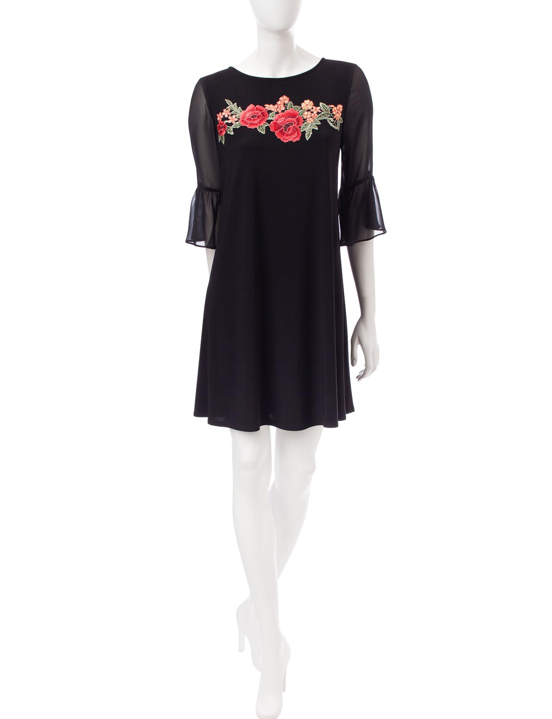 Perceptions Black Everyday & Casual A-line Dresses Shift Dresses