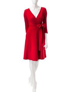 Sangria Bright Red Everyday & Casual A-line Dresses