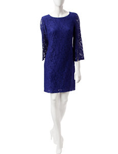Nine West Regal Purple Everyday & Casual Shift Dresses