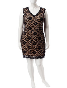 Liberty Love Black Cocktail & Party Everyday & Casual Party & Night Out Sheath Dresses