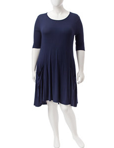 Liberty Love Navy Everyday & Casual Sheath Dresses