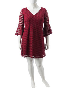 Madison Leigh Burgundy Everyday & Casual Shift Dresses