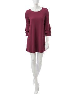 Trixxi Wine Everyday & Casual Shift Dresses