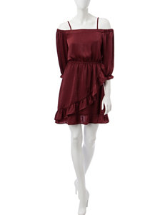 Trixxi Red Everyday & Casual Fit & Flare Dresses