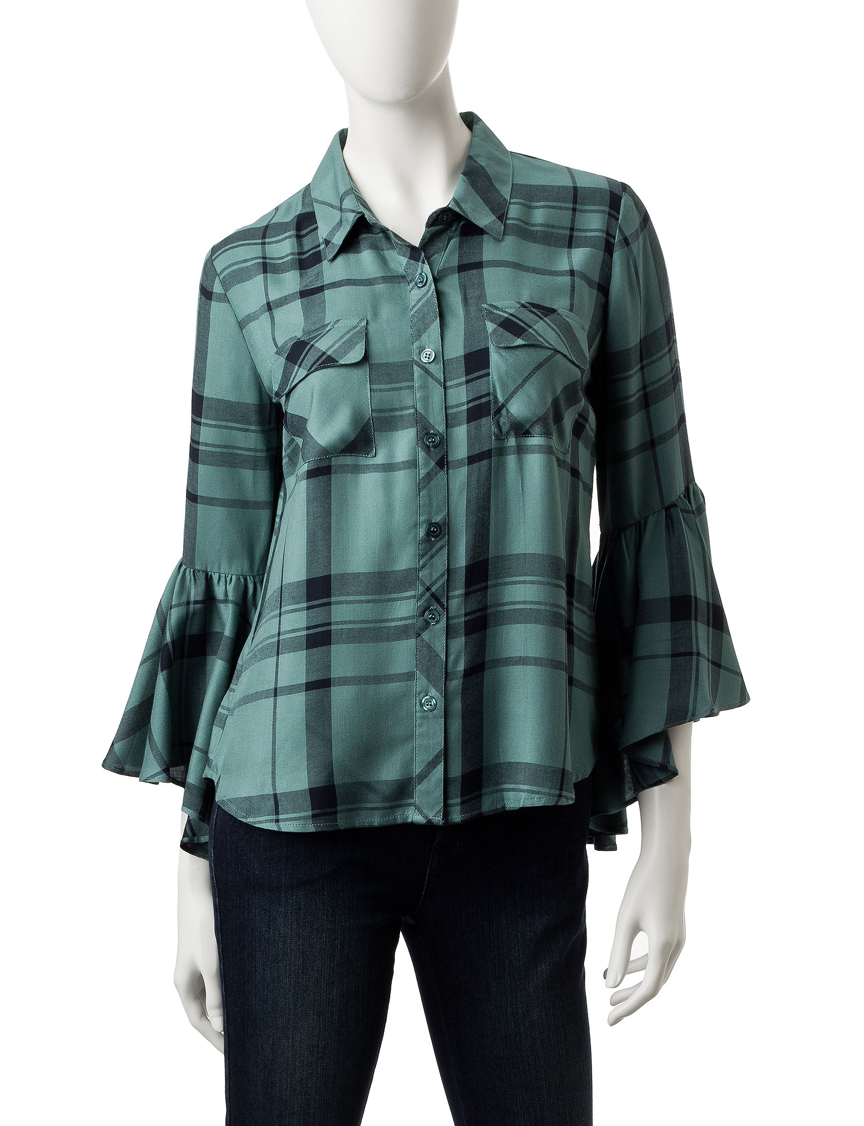 My Michelle Green Shirts & Blouses