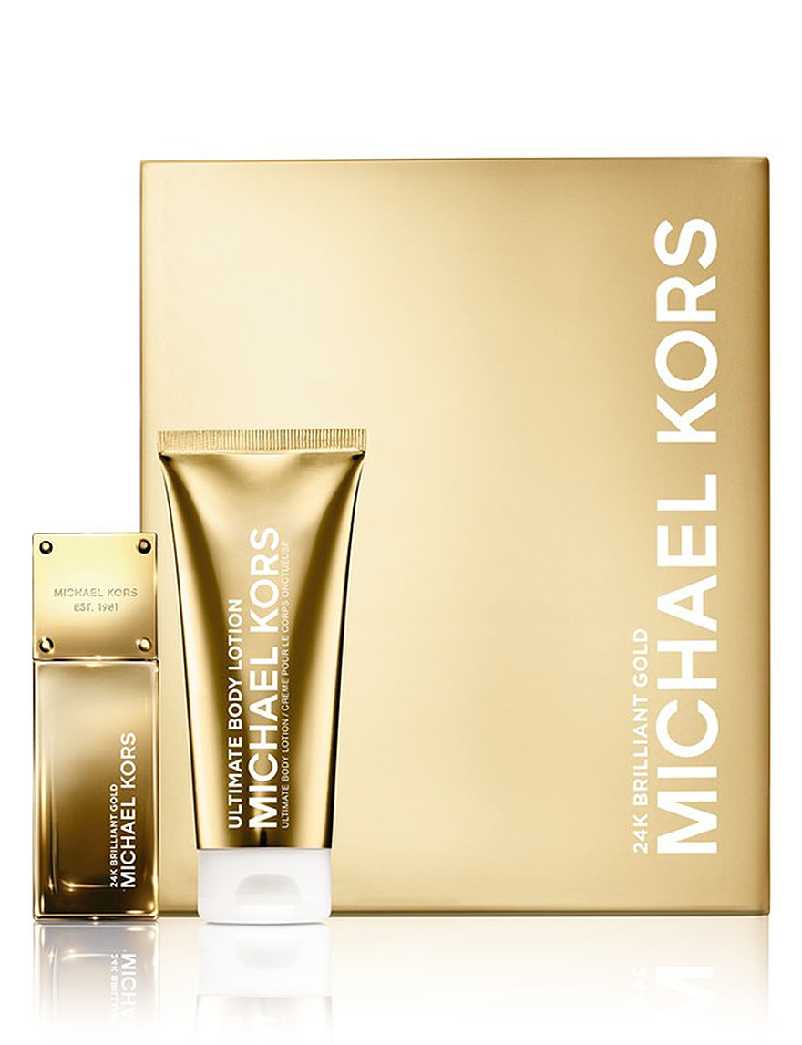 Michael Kors Gold Collection 24K Brilliant Gold Set for Women (A $112 Value) - - Michael Kors
