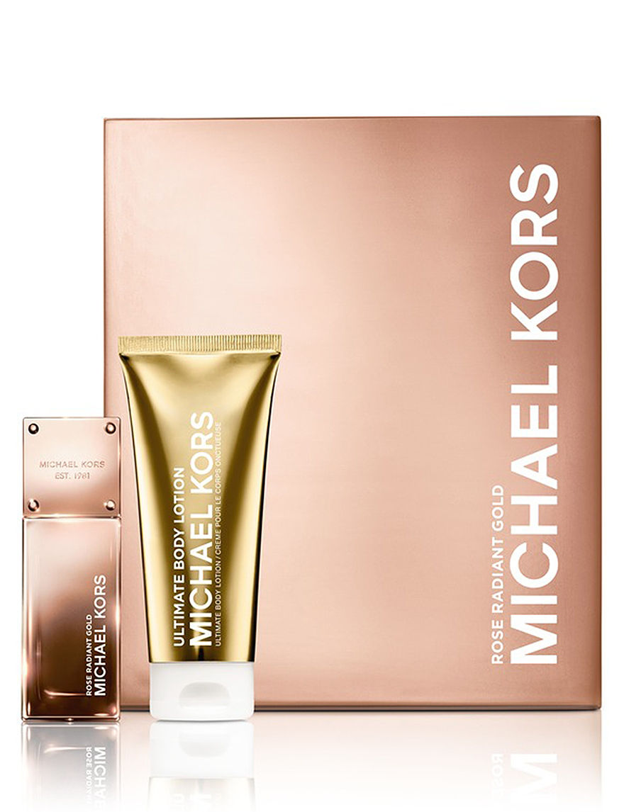 Michael Kors Gold Collection Rose Radiant Gold Set for Women (A $112 Value) - - Michael Kors