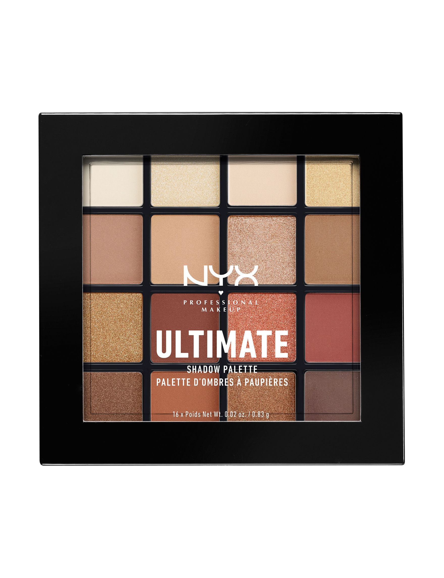 NYX Professional Makeup Warm Neutrals Eyes Makeup Kits & Sets Eye Shadow