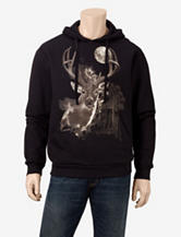 Sun River Deer in the Night Hoodie