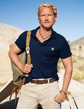 Chaps Navy Piqué Polo Shirt
