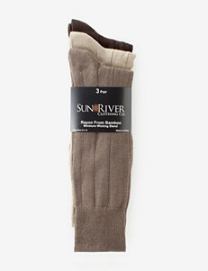 Sun River 3-pk. Bamboo Ribbed Dress Socks