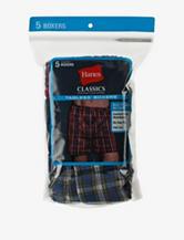 Hanes® 5-Pk. Classic Tartan Plaid Boxers