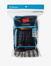 Hanes® 5-pk. Classic Plaid Boxers