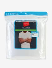 Hanes® 3-Pk. White Comfort Soft® Crewneck Tees