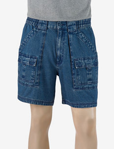 Sun River Elastic Waist Denim Cargo Shorts