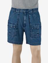 Sun River Elastic Waist Denim Cargo Shorts