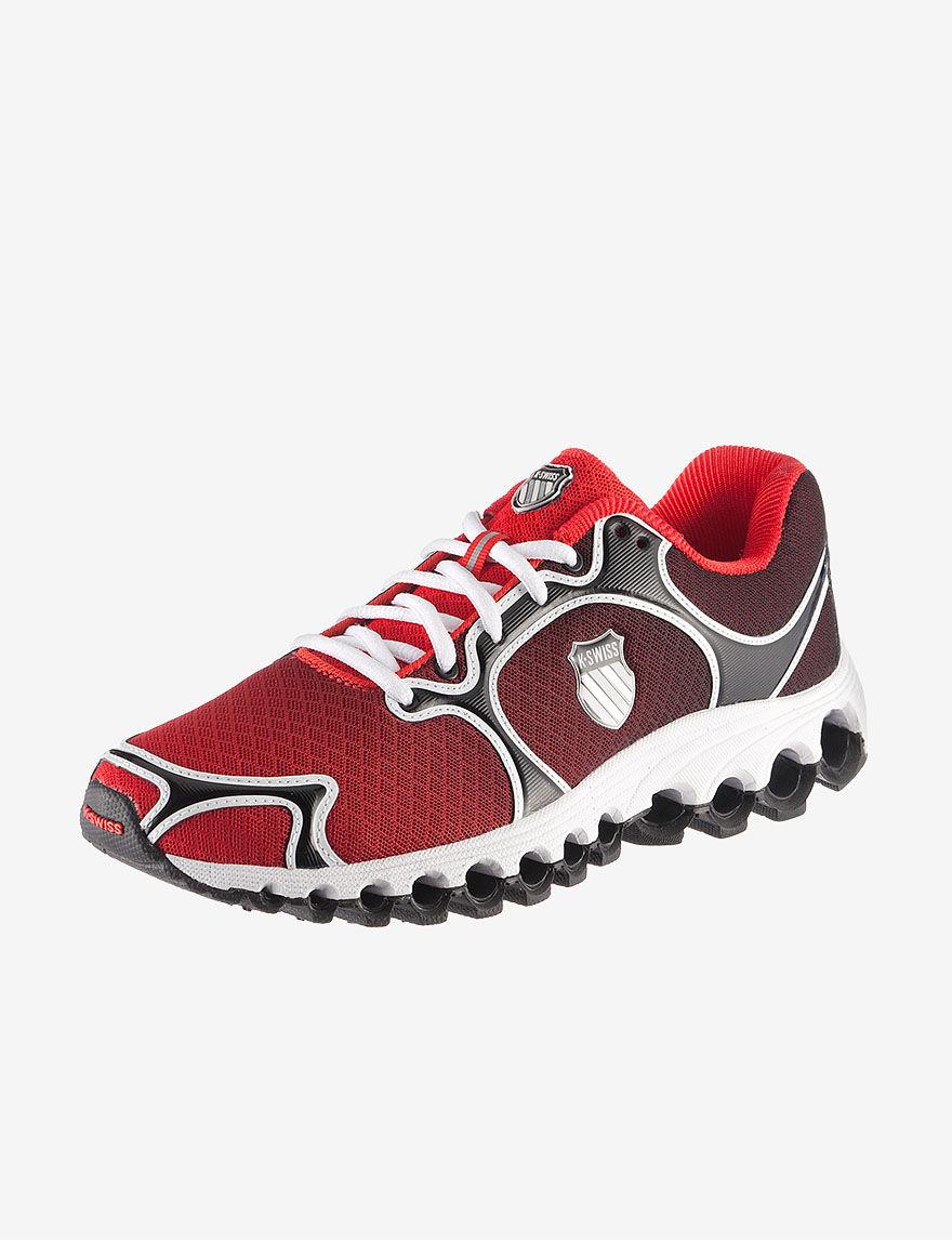 K-Swiss Tubes Run 100 Dustem Athletic Shoe - Men's - Red - 8 - K-Swiss