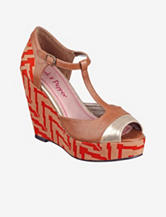 Pink & Pepper Fabiola Peep-Toe Platform Wedge – Ladies