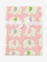 Cutie Pie Plush Pink Elephant Blanket
