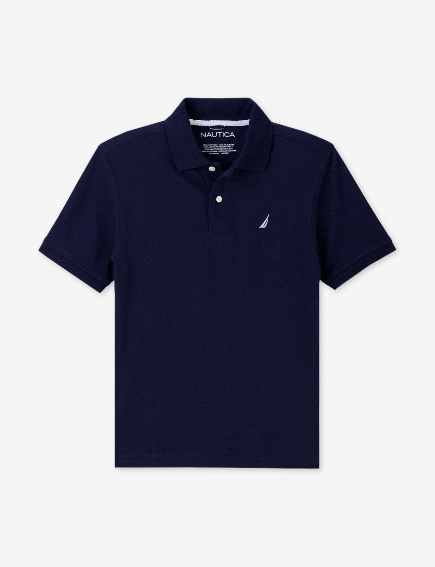 nautica navy piqu polo shirt boys 8 20 baby kids