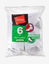 Hanes® 6-pk. No-show White Socks –Boys