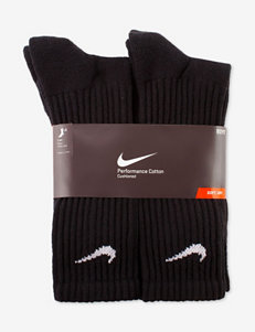 Nike® 6-pk. Black Crew Socks – Boys