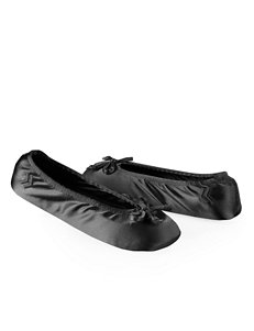 Isotoner® Women's Satin Ballerina Slippers