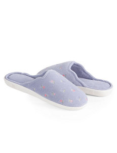 Isotoner Embroidered Clog Slippers