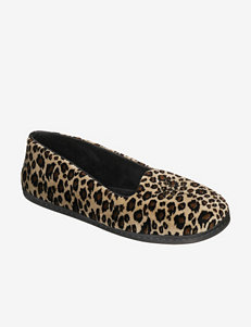 Dearfoams Animal Print Velour Slippers