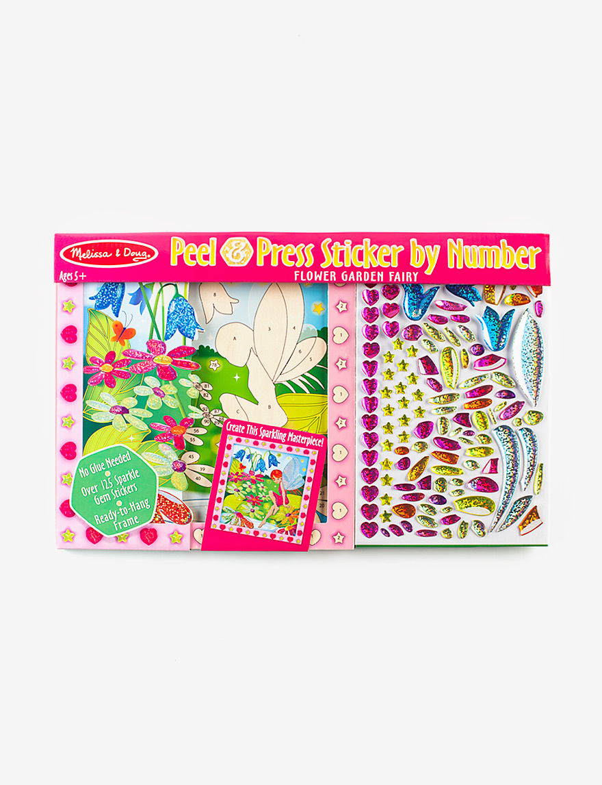 Melissa Doug Flower Garden Fairy Peel Press Sticker By Numbers Stage Stores