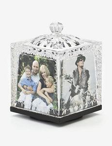 Godinger Dublin Crystal Revolving Photo Cube