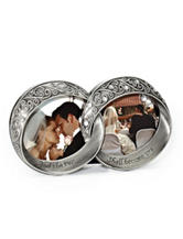 Fetco Melissa Double Rings Pewter Wedding Frame