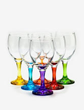 Home Essentials Set of 6 Carnival Wine Glasses