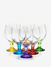 Home Essentials Set of 6 Carnival All-Purpose Glasses