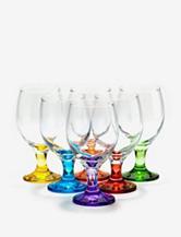 Home Essentials Set of 6 Carnival All-Purpose Glasses